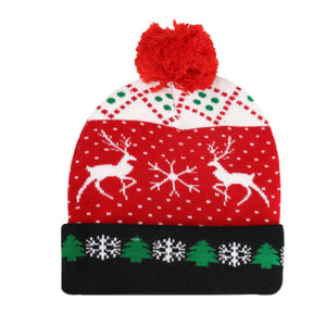 Baby Christmas knitted hat with LED light