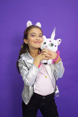 Shimmer Stars children's plush cat