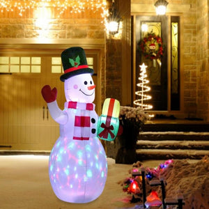 Inflatable Christmas snowman lantern glowing decoration