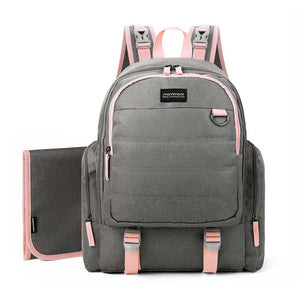 test-0306-Copy of Large Travel Diaper Backpack- Unisex Bag with Changing Pad - MOMMORE