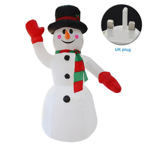 Inflatable Christmas Snowman Model with Christmas Garden Decorations