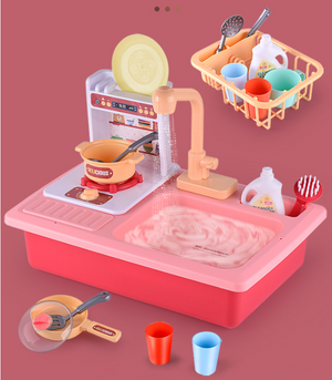 Early education electric circulating water simulation kitchen toy