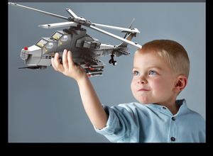 Helicopter model inserting blocks