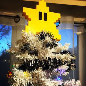 Pixel star Christmas Tree Toppers