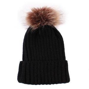 Children's warm woolen cap