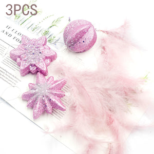 Baby Pink Feather Christmas Tree Decoration