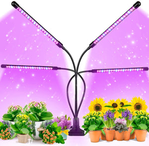 Dimmable Levels Grow Light with 3 Modes Timing Function for Indoor Plants