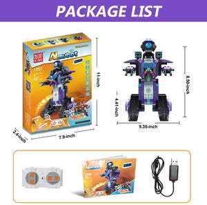 S.T.E.M Robot Toy Kit with APP Remote Control Smart Tracked Building Block Robot Creative Educational Learning Toys