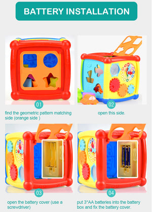 Early childhood education six-sided box, puzzle shape matching building block toy