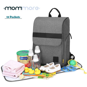 Back-open Baby Diaper Backpack - MOMMORE