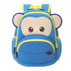 Toddler Kids Backpack With Cute Cartoon Monkey
