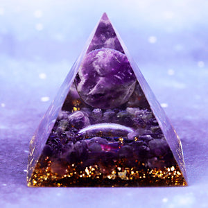 Orgonite Energy Glow In The Dark Pyramid Prevent Radiation Cosmic Energy Stone Decoration