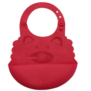Easy to clean silicone bibs, comfortable soft waterproof bibs that do not stain