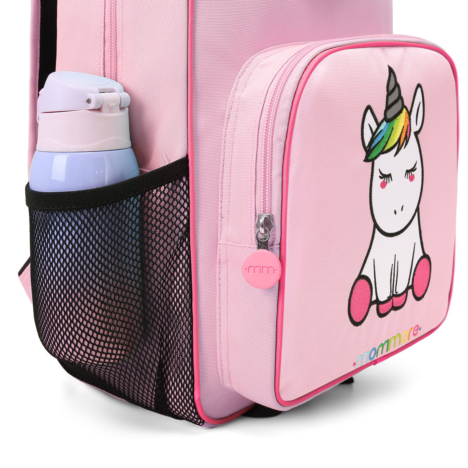 f3f162da8b 2 in 1 Cute Unicorn Little Kids Backpack with Insulated Lunch Bag for  Preschool Toddler Boys
