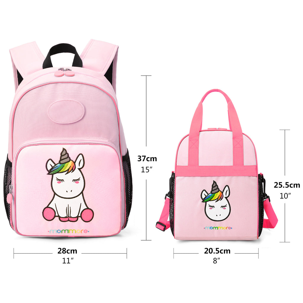 80286e37912e 2 in 1 Little Unicorn Kids Backpack with Insulated Lunch Bag