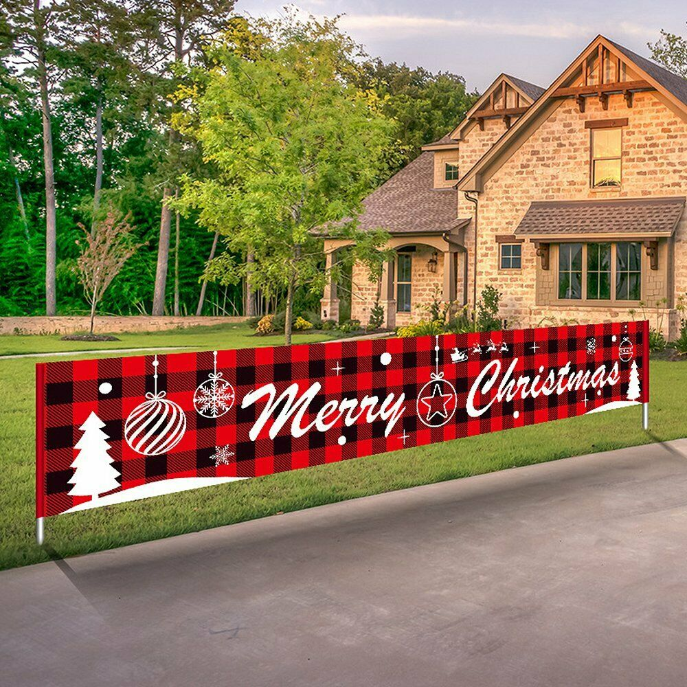 3M Merry Christmas Outdoor Banner Polyester