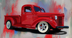 1940 red chevy pickup - realcarartist