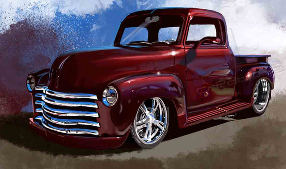 53 chevy pickup truck - realcarartist