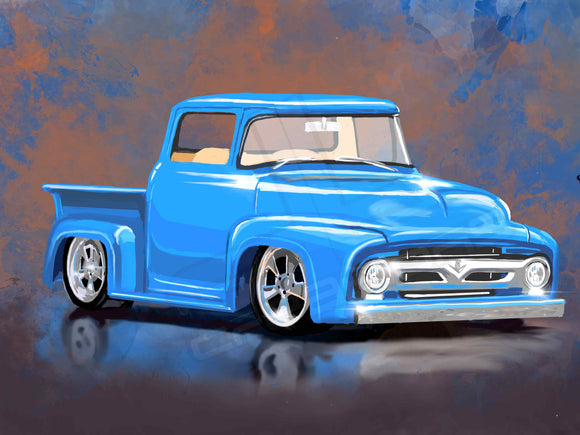 56 ford pickup truck - realcarartist