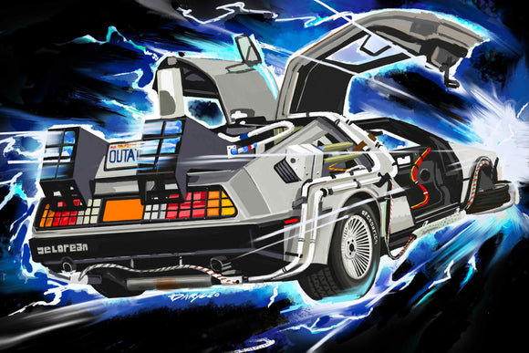 Back to the Future's DeLorean - realcarartist