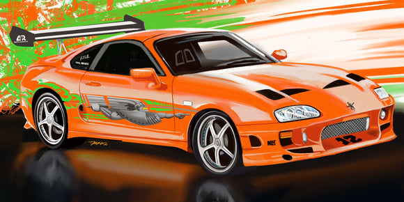 Paul Walker Toyota Supra - realcarartist