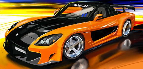 Fast and Furious Hans Rx-7 - realcarartist
