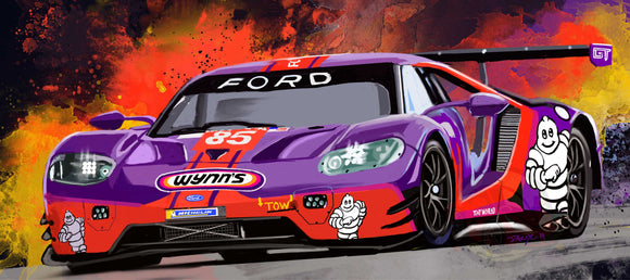 2019 Wynn's Racing Ford Gt - realcarartist