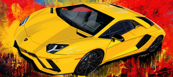 Yellow Aventador - realcarartist
