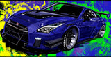 Purple GTR libertywalk - realcarartist