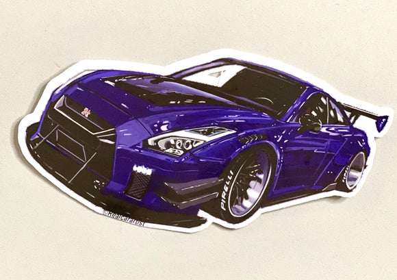 Nissan Libertywalk GT-R R35 Sticker - realcarartist