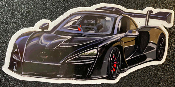 Black Senna Sticker - realcarartist