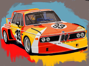 BMW 3.0 CSL Art Car - realcarartist