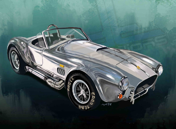 Chrome Shelby Cobra - realcarartist