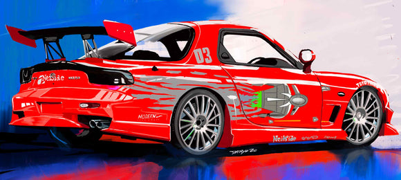the Fast and Furious Rx-7 - realcarartist