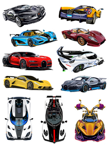 Hypercar Assortment of Stickers - realcarartist