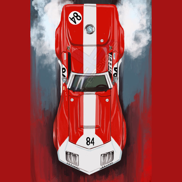 69 Corvette Stingray Race Car - realcarartist