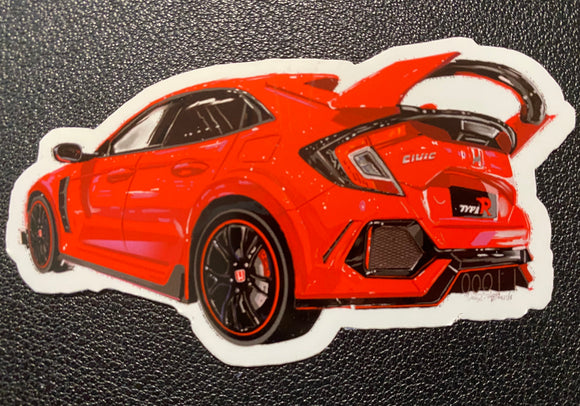 Honda Civic TypeR Sticker - realcarartist