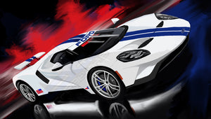 2017 White ford GT - realcarartist