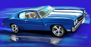 1970 Chevrolet Chevelle Ss - realcarartist