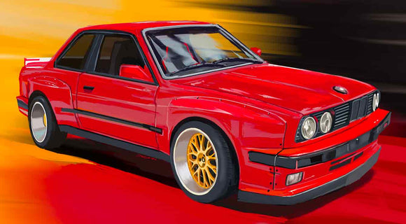 Red BMW E30 - realcarartist