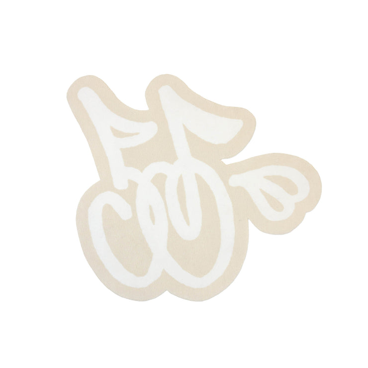 LOGO RUG (CREAM & WHITE)