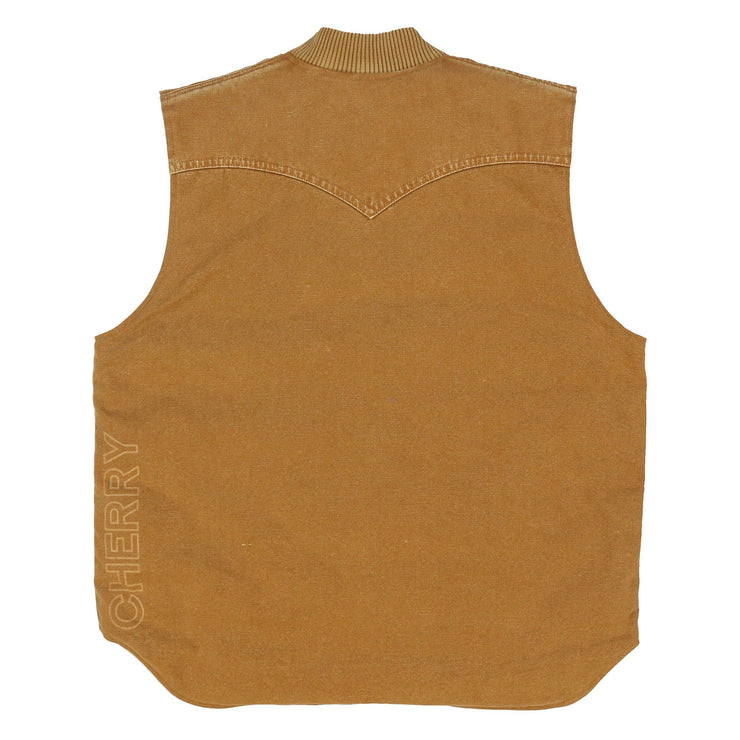 REVERSIBLE CANVAS WORK VEST (COYOTE BROWN)