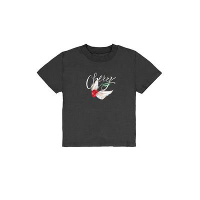 FLYING CHERRY BABY T (OFF BLACK)