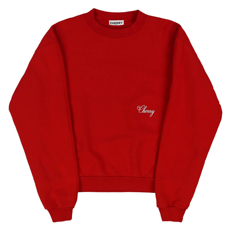 AMERICAN CLASSIC CREWNECK SWEATSHIRT (CHERRY RED)