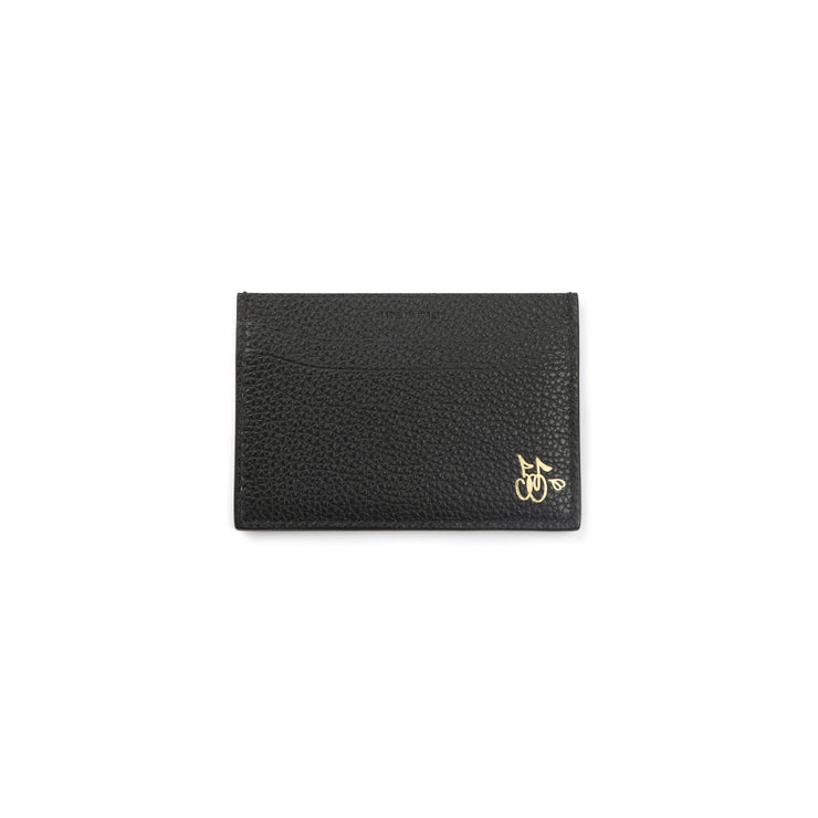 CHERRY LEATHER CARD HOLDER (BLACK)