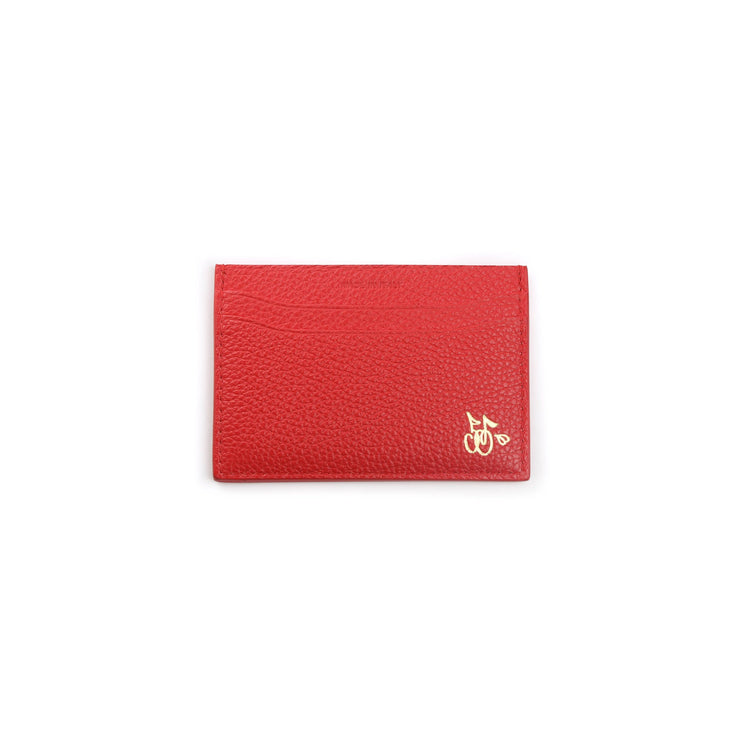 CHERRY LEATHER CARD HOLDER (RED)