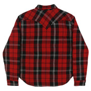 FLANNEL DOWN SHIRT JACKET (RED PLAID)