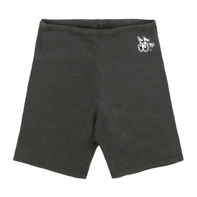 LOGO BIKER SHORTS (OFF BLACK)