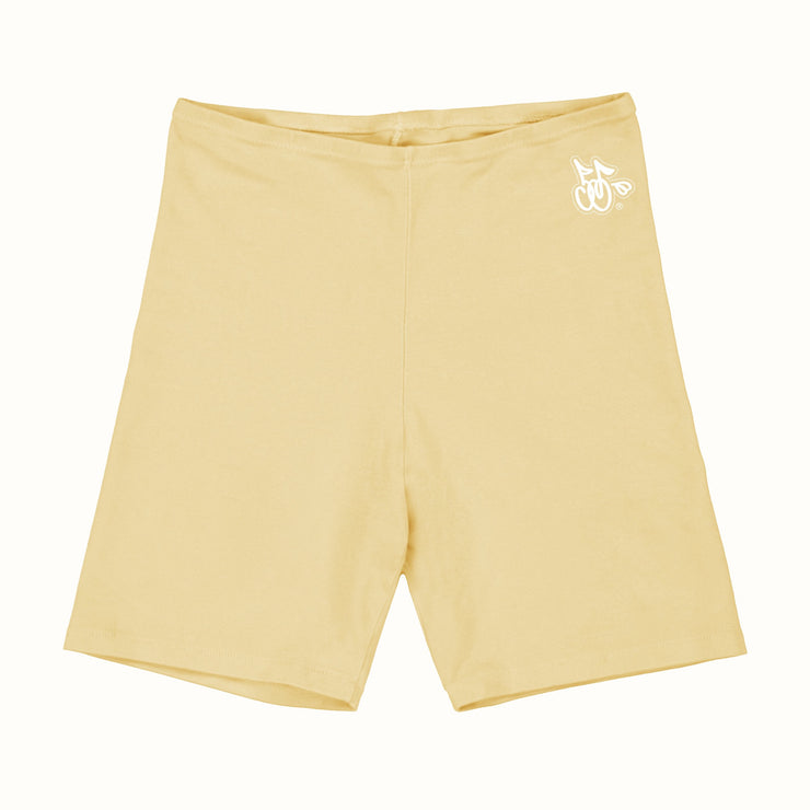 LOGO BIKER SHORTS (CANARY YELLOW)