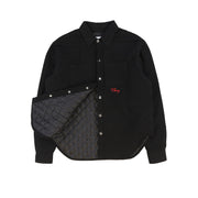 Quilted Flannel Shirt Jacket (Black)